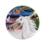 "XmasMagic/Arabian Horse (W) 3.5"" Button (100"
