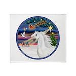 XmasMagic/Arabian Horse (W) Throw Blanket