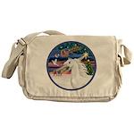 XmasMagic/Arabian Horse (W) Messenger Bag