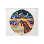 XmsStar/Horse (Ar-Br) Throw Blanket