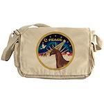 XmsSunrs/Horse (Ar-Br) Messenger Bag