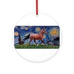 Starry Night Quarterhorse Ornament (Round)