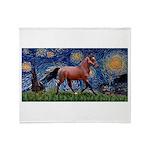 Starry Night Quarterhorse Throw Blanket