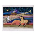 Xmas Star Buckskin Horse Throw Blanket