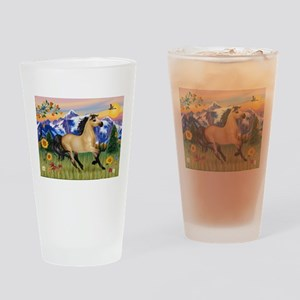 Mt. Country Buckskin Horse Drinking Glass