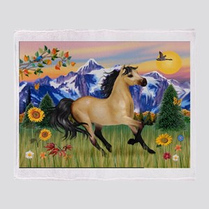 Mt. Country Buckskin Horse Throw Blanket