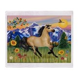 Buckskin horse Fleece Blankets