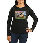 Cloud Star & Buckskin horse Women's Long Sleeve Da