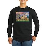 Cloud Star & Buckskin horse Long Sleeve Dark T-Shi