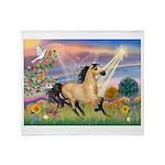 Cloud Star & Buckskin horse Throw Blanket