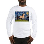 Starry Night Buckskin Long Sleeve T-Shirt