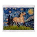 Starry Night Buckskin Throw Blanket