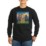 Buddha 1 - Inner Peace Long Sleeve Dark T-Shirt