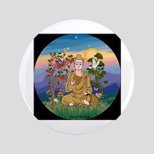 "Buddha 1 - Inner Peace 3.5"" Button (100 pack)"