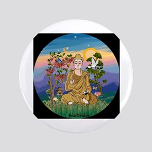 "Buddha 1 - Inner Peace 3.5"" Button"