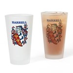 Harrell Coat of Arms Drinking Glass