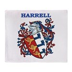 Harrell Coat of Arms Throw Blanket