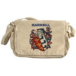 Harrell Coat of Arms Messenger Bag