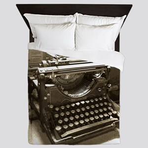 Typewriter Queen Duvet