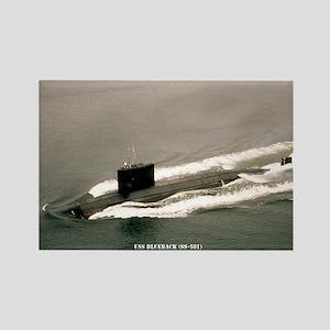 USS BLUEBACK Rectangle Magnet