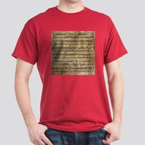 Vintage Sheet Music Dark T-Shirt