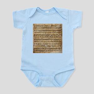 Vintage Sheet Music Infant Bodysuit