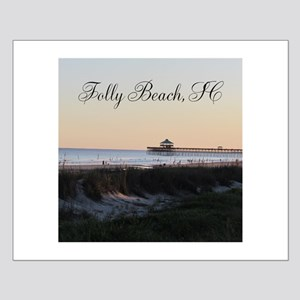 Folly Beach, SC Pier Small Poster