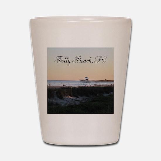 Folly Beach, SC Pier Shot Glass