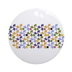 Spanish Stars and Windmills P Ornament (Round)