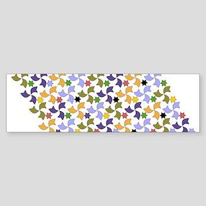 Spanish Stars and Windmills P Sticker (Bumper)