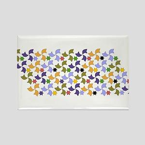 Spanish Stars and Windmills P Rectangle Magnet (10