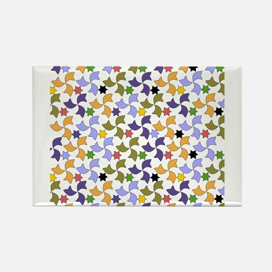 Spanish Stars and Windmills P Rectangle Magnet