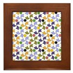 Spanish Stars and Windmills P Framed Tile