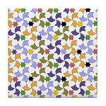 Spanish Stars and Windmills P Tile Coaster
