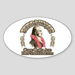 Burr-lesque Sticker (Oval)