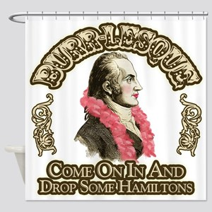 Burr-lesque Shower Curtain