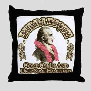 Burr-lesque Throw Pillow