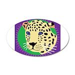 Jaguar 38.5 x 24.5 Oval Wall Peel