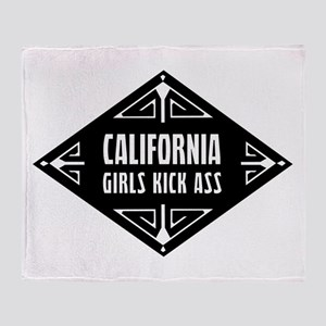 California Girls Kick Ass Throw Blanket