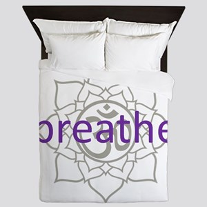breathe Om Lotus Blossom Queen Duvet