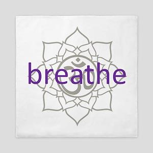 breathe Om Lotus Blossom Queen Duvet