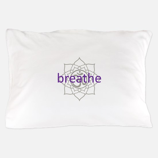 breathe Om Lotus Blossom Pillow Case