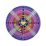 """Labryinth 3.5"""" Button (100 pack)"""
