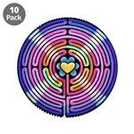 """Labryinth 3.5"""" Button (10 pack)"""