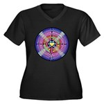 Labryinth Women's Plus Size V-Neck Dark T-Shirt