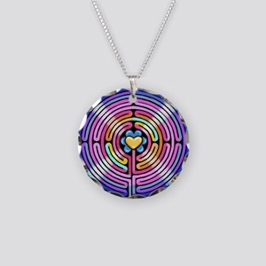 Labryinth Necklace Circle Charm