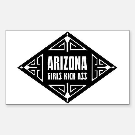 Arizona Girls Kick Ass Sticker (Rectangle)