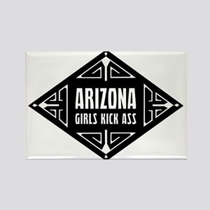 Arizona Girls Kick Ass Rectangle Magnet