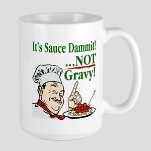 It's Sauce Dammit! Large Mug