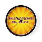 Bollywood or Bust Wall Clock
